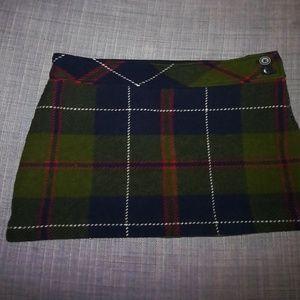 J. Crew plaid mini skirt.